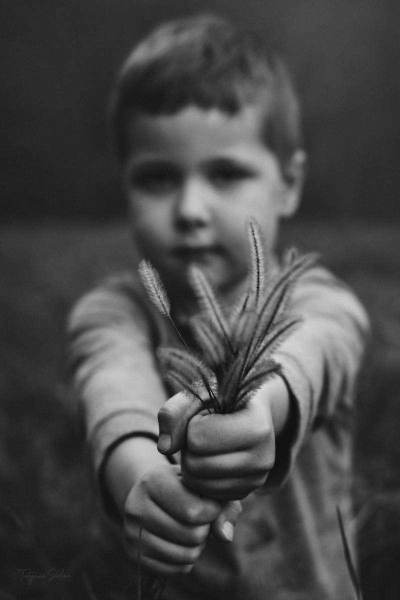Houston Child Photography; Houston Fine Art Photography; Black and White Child Portrait