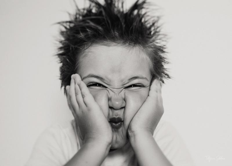 Lifestyle Child Photograher in Houston; Black and White Child Portrait